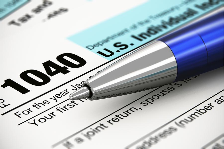 Tax form concept